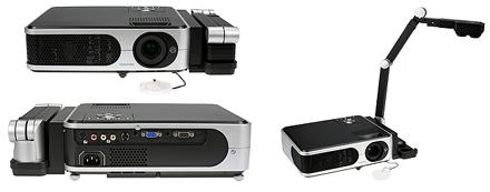 Proyector Toshiba con cámara para documentos en papel