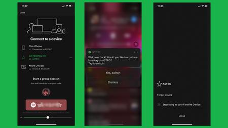 Spotify estaría probando una nueva funcionalidad para enviar la música del móvil a un altavoz cercano