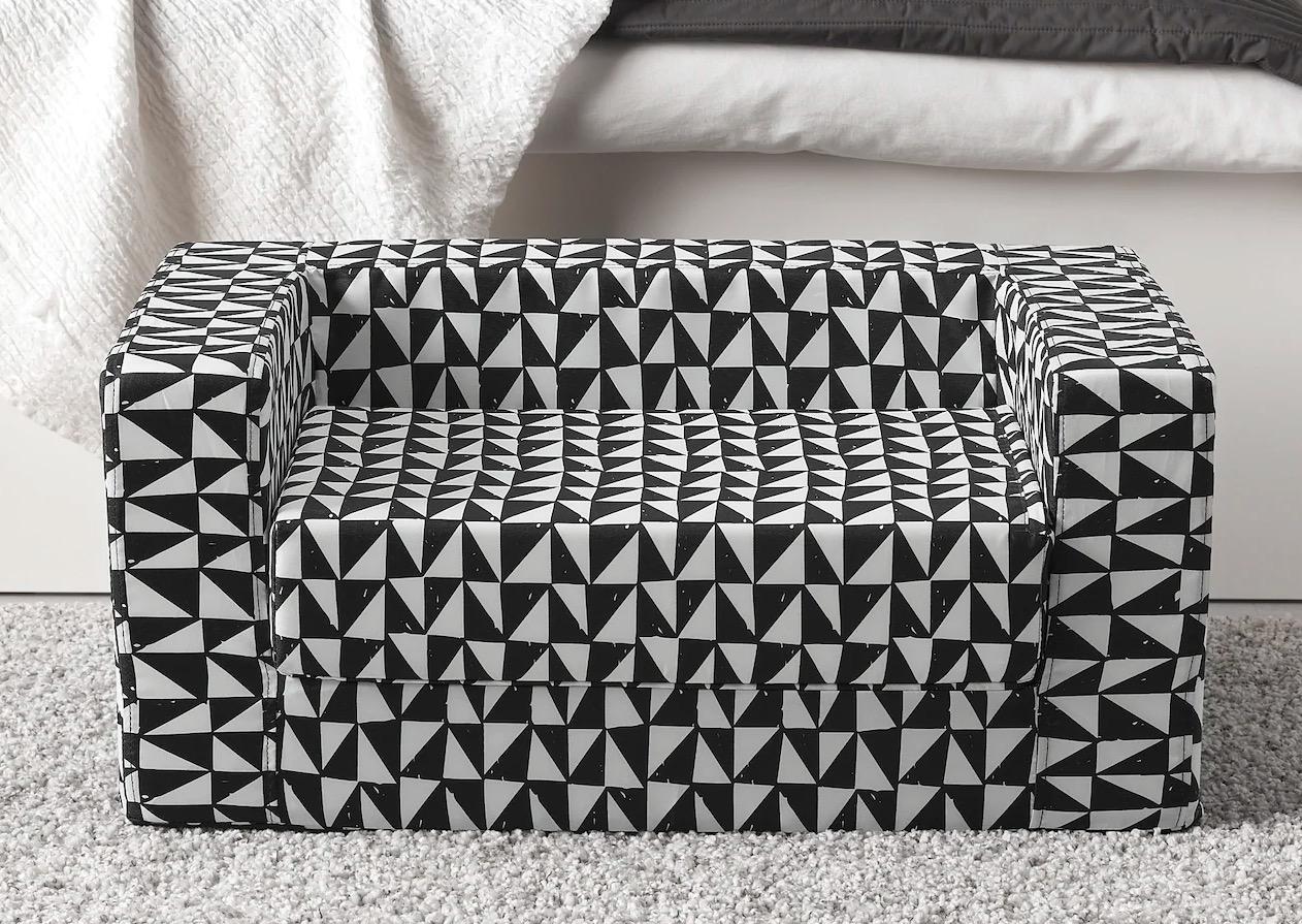 Funda cama gato/perro, negro, blanco, 68x70 cm