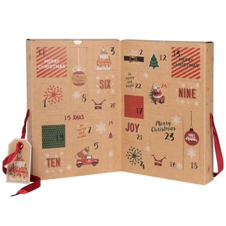 Calendario Del Adviento Marron Verde Y Rojo 1000 12 2 208364 2