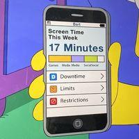 Los Simpson vuelven a usar a Apple para la trama de su último episodio, esta vez sobre Tiempo de uso