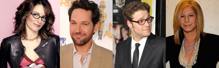 Tina Fey, Paul Rudd, Seth Rogen y Barbra Streisand se reparten papeles en varias comedias