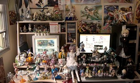 Un vistazo a las habitaciones más frikis de los jugones y otakus