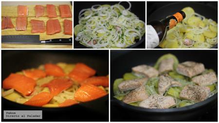 Salmon Horno Patatas Dap