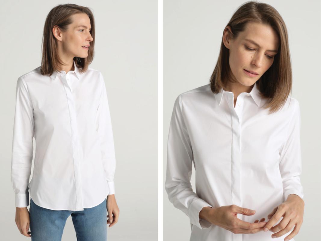 Camisa básica de popelín de mujer Woman Essentials El Corte Inglés