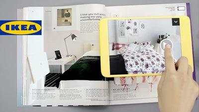 Realidad aumentada en el catálogo de Ikea 2013