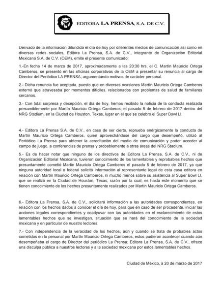 Comunicado La Prensa