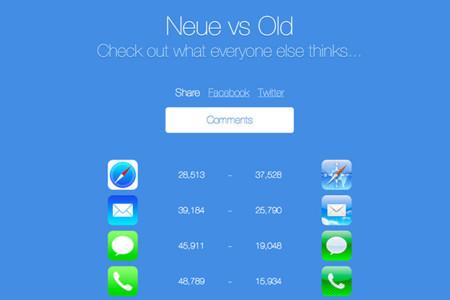 Iconos de iOS 7 contra iconos iOS 6, la imagen de la semana