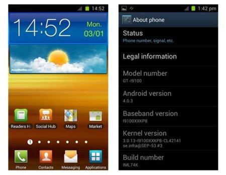 Nuevas ROMs de Ice Cream Sandwich para Samsung Galaxy S2