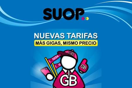 SUOP vuelve a aplicar otro aumento de gigas sin coste, y estrena 14 GB por 12,99 euros
