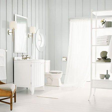 Ideas para decorar el ba o en gris for Great un bano con paredes en naranja de