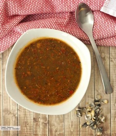 Sopa de champiñones con huitlacoche. Receta