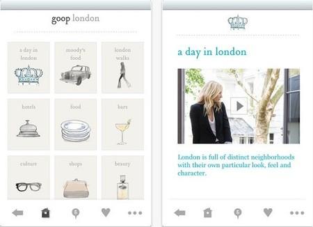 Aplicaciones viajeras: Goop City Guides