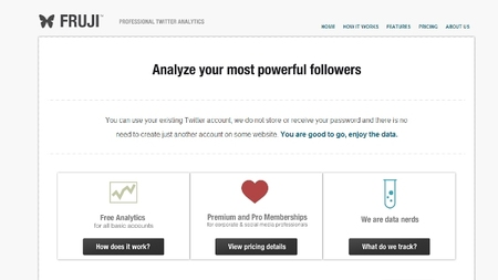 Fruji, un servicio para analizar tu influencia y seguidores en Twitter