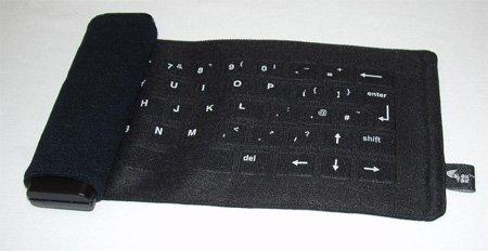 Un teclado que se pliega