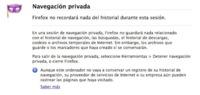 Inicia Firefox siempre en modo de navegación privada