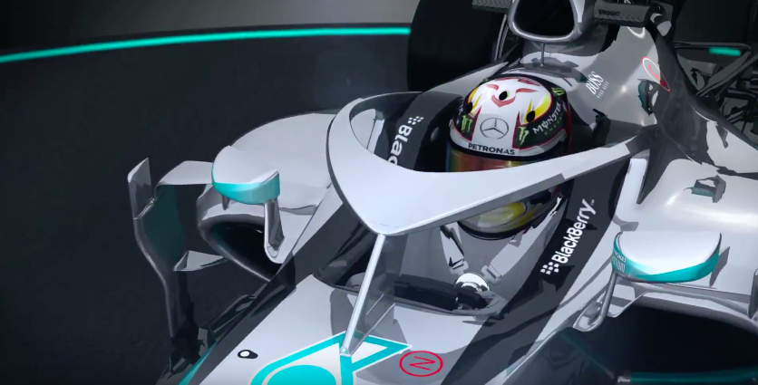 Cockpit Cerrado Halo Mercedes F1