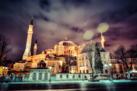 Hagia Sophia In The Night 2