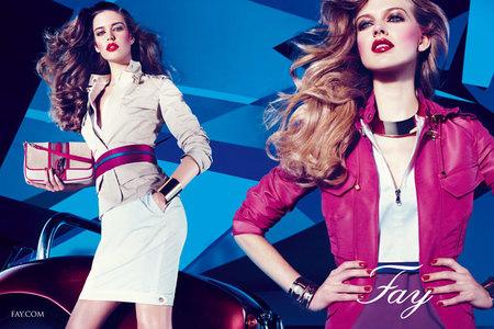 La modelo española Clara Alonso, nueva imagen de Fay. Imágenes colección Primavera/Verano 2012
