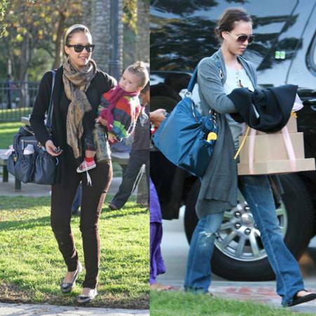 Jessica Alba adicta al bolso de Tod's