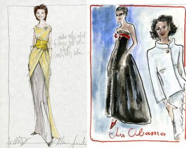 Los posibles vestidos para Michelle Obama