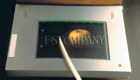 Así era uno de los primeros prototipos de tablet diseñado para Apple... hace 20 años