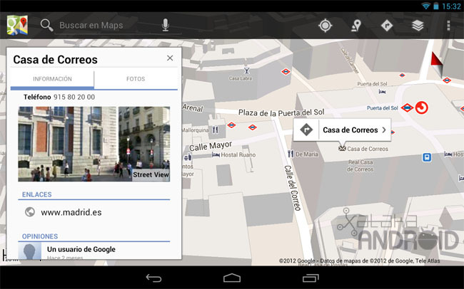 Google Maps para tablets Android