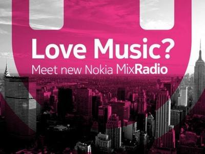 Nokia Music pasa a ser Nokia MixRadio, streaming gratuito de música para usuarios Nokia Lumia
