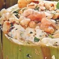 Alcachofas rellenas con queso y especias