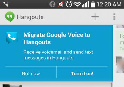 Hangouts se integra con Google Voice: SMS y buzón de voz