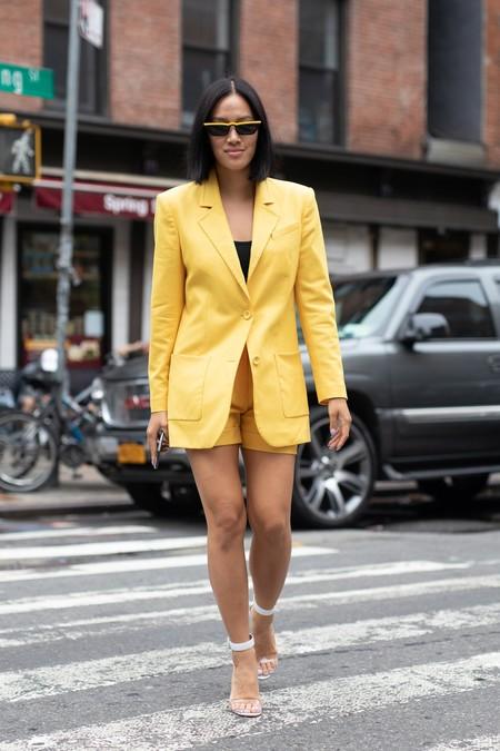 traje pantalon corto street style