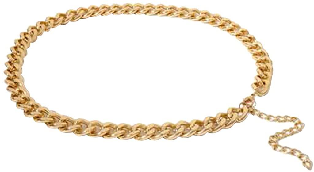 Cinturón dorado efecto cadena en Amazon
