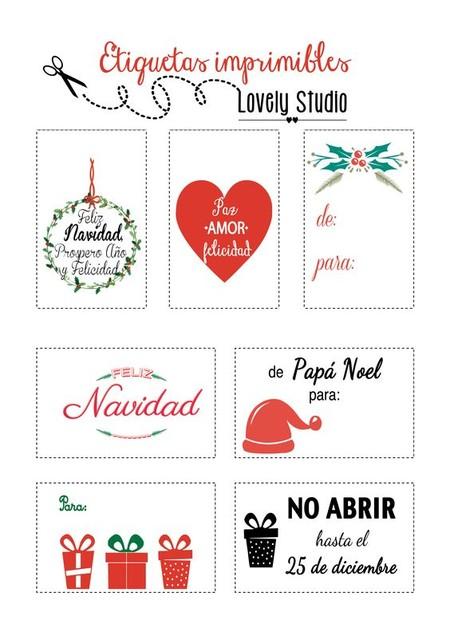 Imprimibles Navidad 1etiquetas