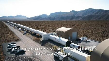 A velocidades de toda la vida pero sin ventanillas: la imagen que deja el primer test del Virgin Hyperloop