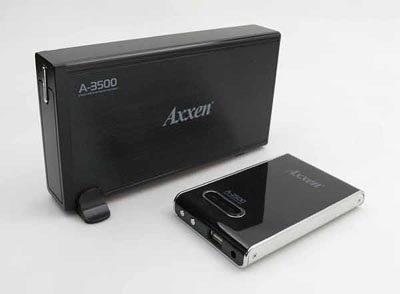 Axxen, disco duro con lector de tarjetas