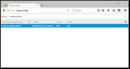 Firefox Evitar Autoplay