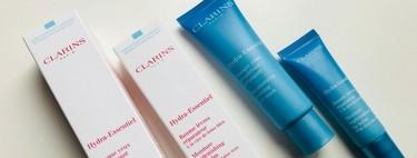 Nuestros ojos y labios se rehidratarán solos gracias a lo nuevo de Hydra-Essentiel de Clarins: lo probamos
