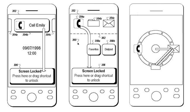 Patente desbloqueo pantalla