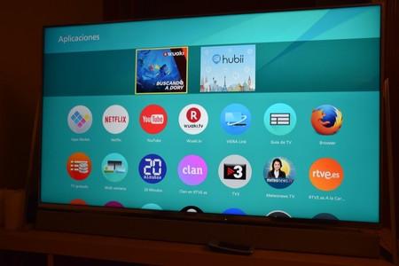 Algunos ejemplos de aplicaciones que ya vienen instaladas en el televisor, aunque podremos conseguir muchas más