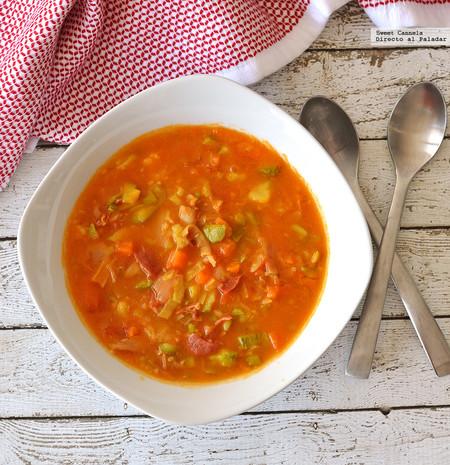 Sopa Verduras Jamon