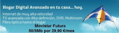 Movistar rebaja los 50 megas sobre FTTH durante 6 meses