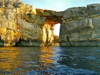 Uno de los atardeceres más bonitos del mundo junto a la Ventana Azul en Gozo, Malta