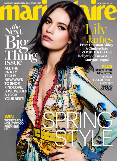 Marie Claire USA: Lily James