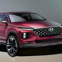 Estos sugestivos bocetos son del próximo Hyundai Santa Fe