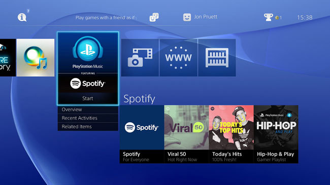 Spotify for PlayStation
