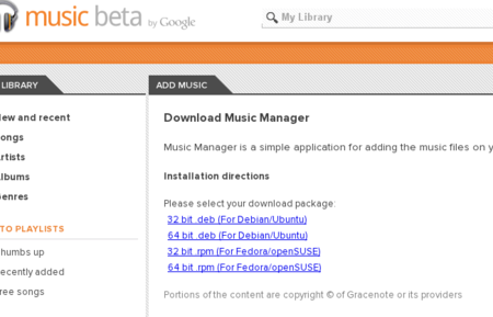 Google Music Manager disponible en Linux