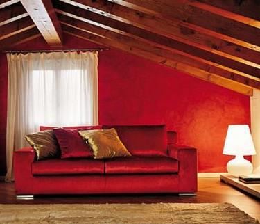 Una habitación... ¿en rojo teja?
