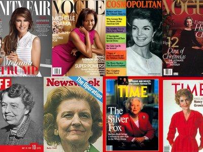 23 portadas míticas que cuentan la historia de Estados Unidos con la mirada puesta en las Primeras Damas
