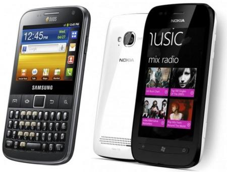 Precios Nokia Lumia 710 y Samsung Galaxy Y pro con Orange