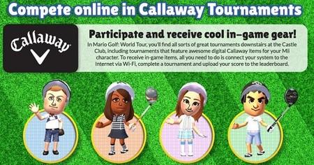 Accesorios de Callaway Golf para el Mario Golf: World Tour